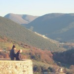 Casperia fortified walls