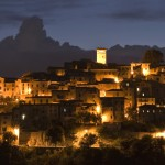 Casperia at night