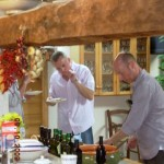 Gary Rhodes tasting the local olive oil