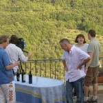 Gary Rhodes on the terrace of La Torretta